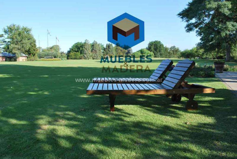 Camastros de madera muebles de jardin venta de muebles for Camastros para jardin
