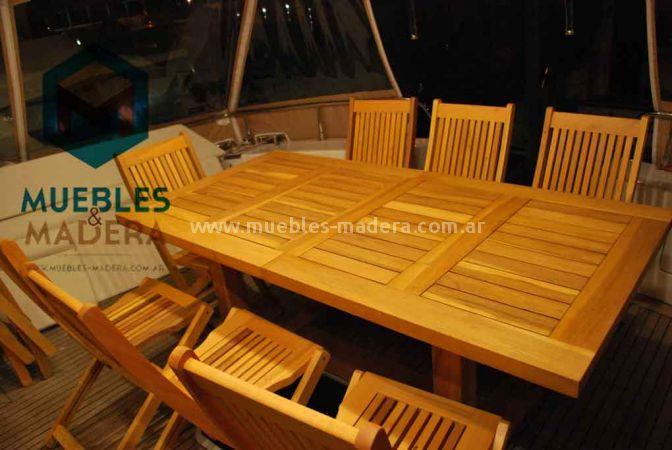 Mesas extensibles muebles de jardin venta de muebles de for Muebles de teka para jardin