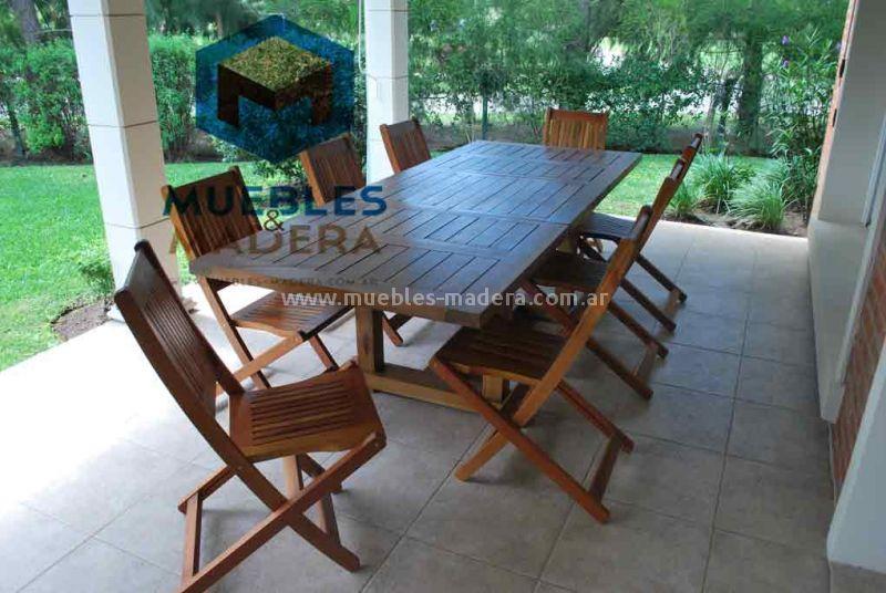 Mesas extensibles muebles de jardin venta de muebles de for Muebles para jardin en madera
