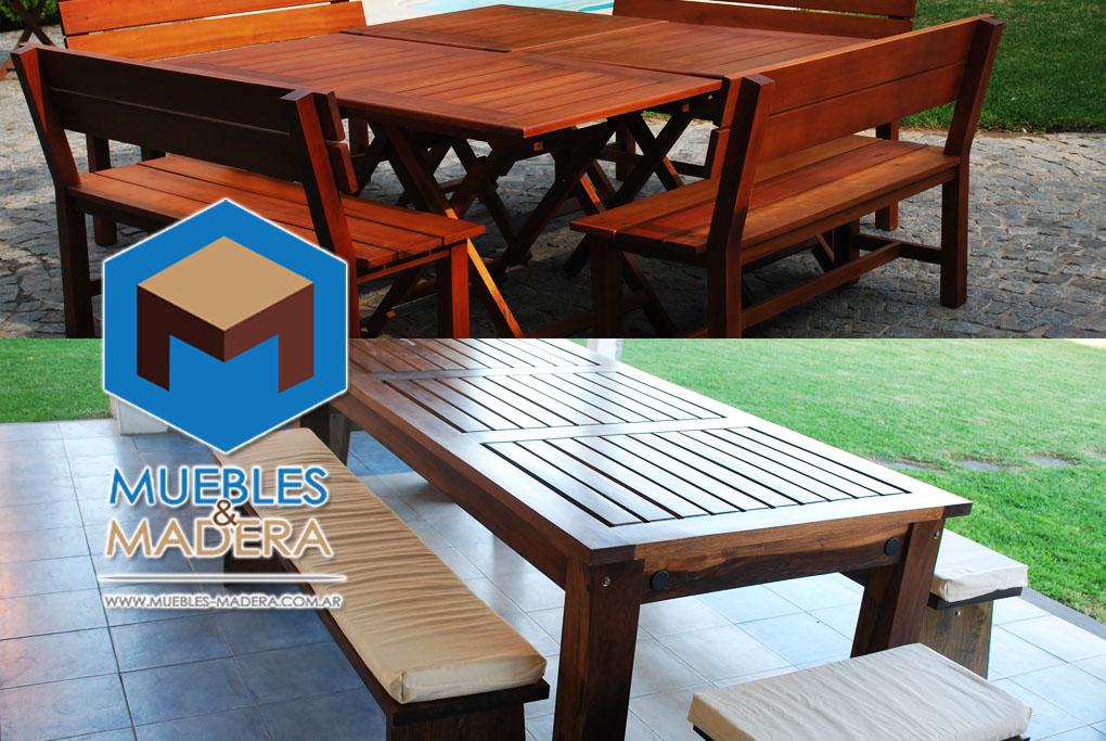 Mesas para jardin muebles de jardin venta de muebles de - Mesas de madera para jardin ...