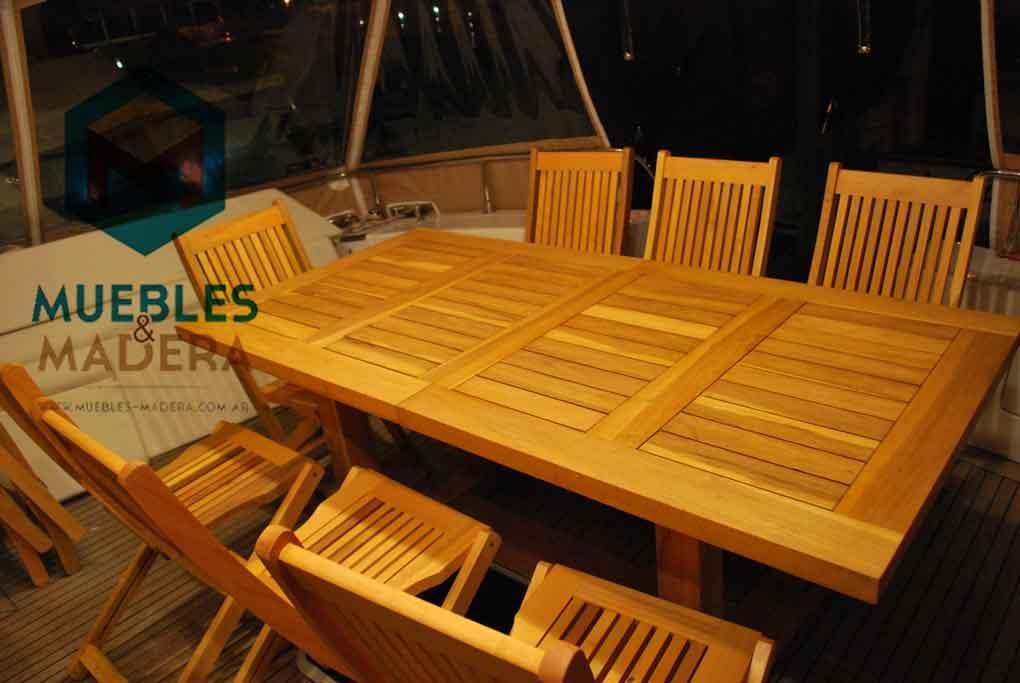 Mesas de teka muebles de jardin venta de muebles de - Mesa de madera para jardin ...