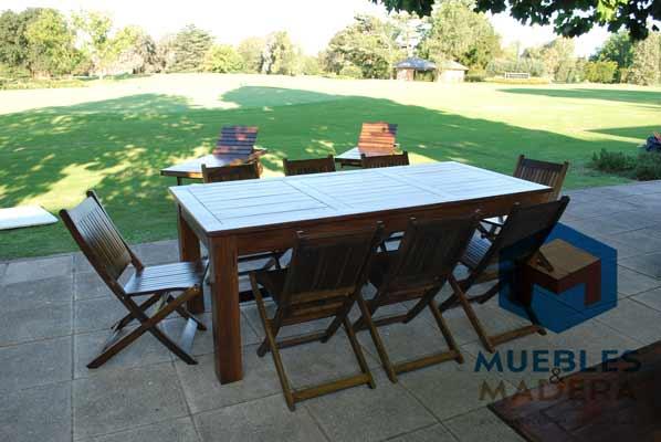 Muebles de jardin para exterior reposeras mesas sillas - Muebles de jardin de madera ...