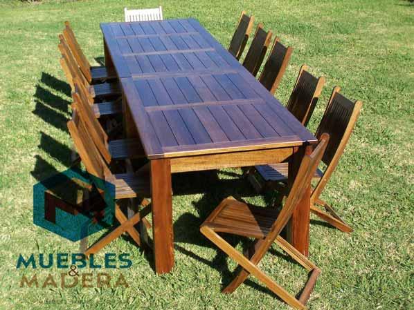 Mesas de jardin muebles de jardin venta de muebles de - Mesas de madera para jardin ...