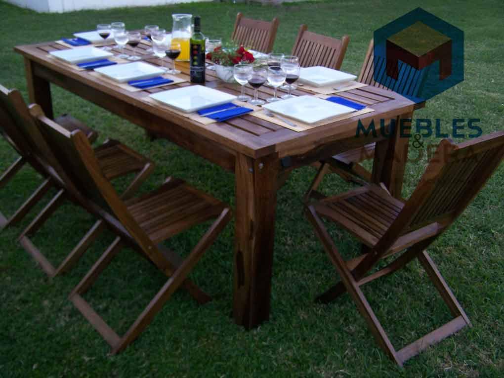 Comprar muebles jardin idea creativa della casa e dell for Mesas jardin madera baratas