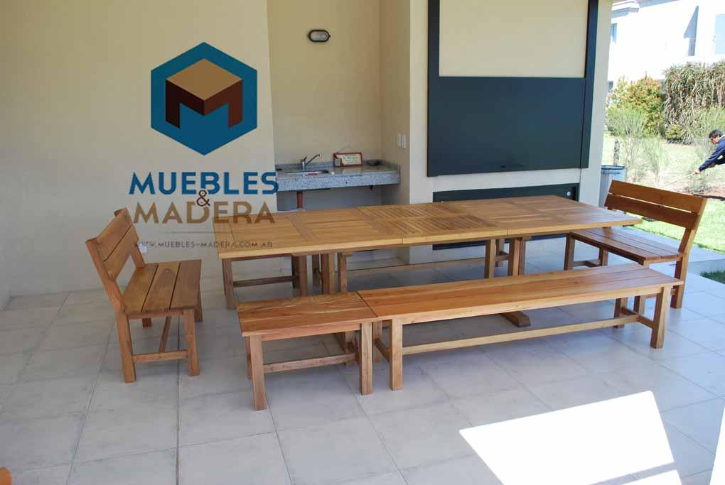 Mesas para quinchos muebles de jardin venta de muebles for Muebles de madera y jardin